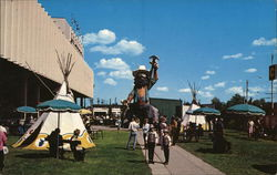 Klondike Mike and the Edmonton Exhibition Grounds Postcard