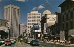 Looking along Portage Avenue towards Portage and Main