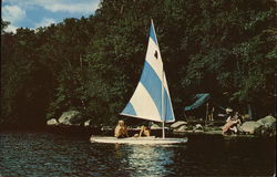 Y.M.C.A. Camp Norwich Sailing Near Ranger Point
