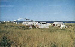 Encampment of Cree Indians at Moose Factory on James Bay