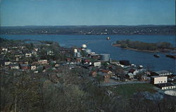 View of Rondout Creek as it Enters Hudson River