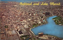 Aerial View of City and Lake Merritt
