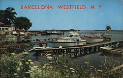 Historical Barcelona Harbor Postcard