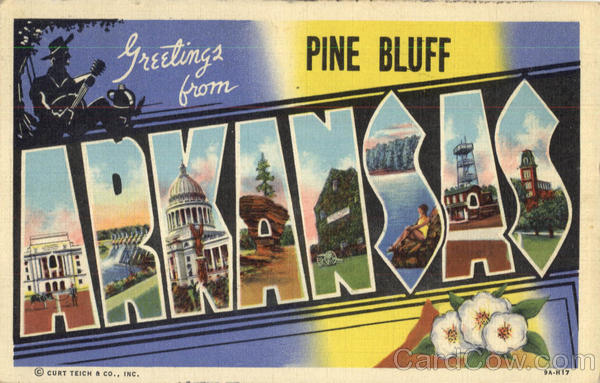 Greetings From Arkansas Pine Bluff Large Letter