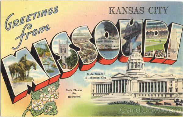 Greetings From Missouri Kansas City Large Letter