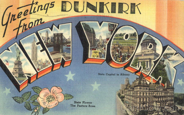 Greetings From New York Dunkirk Large Letter