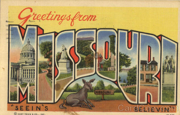 Greetings From Missouri Large Letter