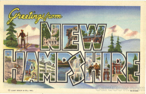 Greetings From New Hampshire Large Letter