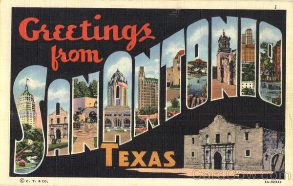 Greetings From San Antonio Texas Large Letter
