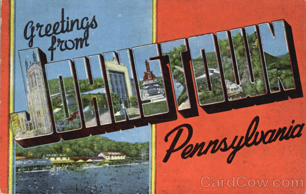 Greetings From Johnstown Pennsylvania Large Letter