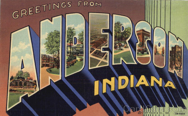 Greetings From Anderson Indiana Large Letter