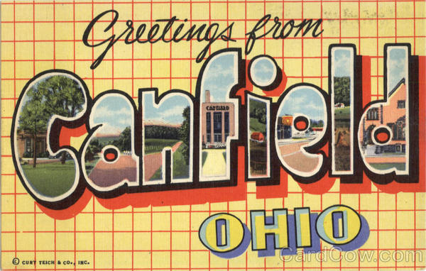 Greetings From Canfield Ohio Large Letter