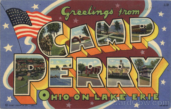 Greetings From Camp Perry Ohio Large Letter