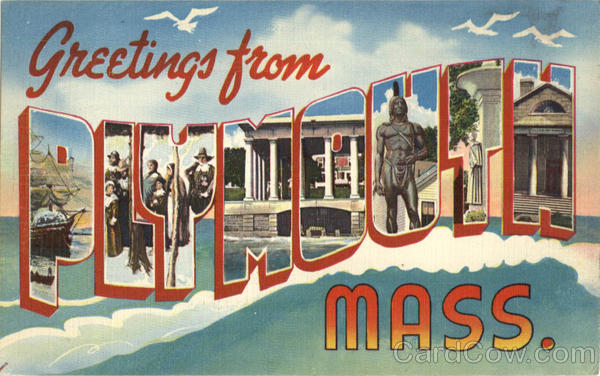 Greetings From Plymouth Massachusetts Large Letter