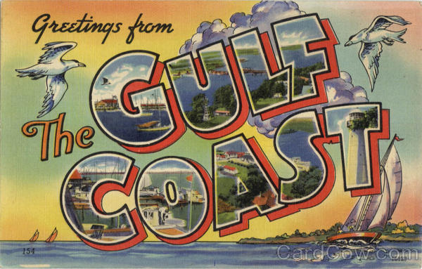 Greetings From The Gulf Coast Mississippi Large Letter