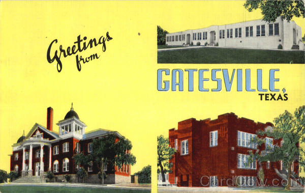 Greetings From Gatesville Texas Large Letter