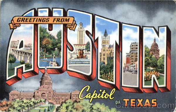 Greetings From Austin Texas Large Letter