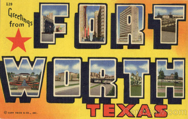 Greetings From Fort Worth Texas Large Letter