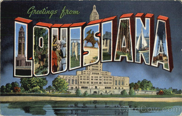 Greetings From La Louisiana Large Letter
