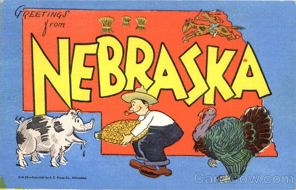 Greetings From Nebraska Large Letter