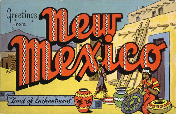 Greetings From New Mexico Large Letter
