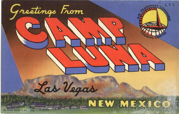 Greetings From Camp Luna Las Vegas New Mexico Large Letter