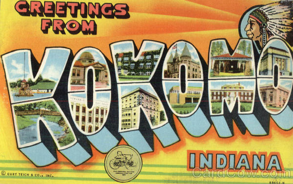 Greetings From Kokomo Indiana Large Letter