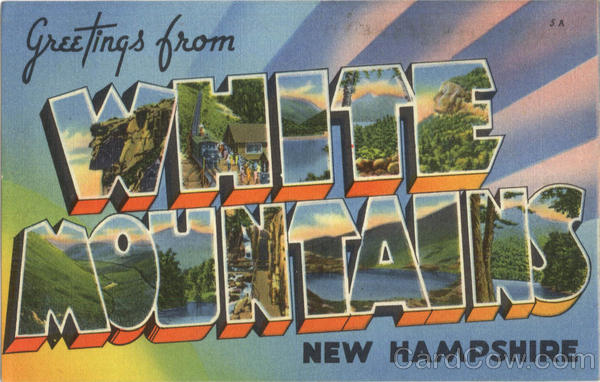 Greetings From White Mountains New Hampshire Large Letter