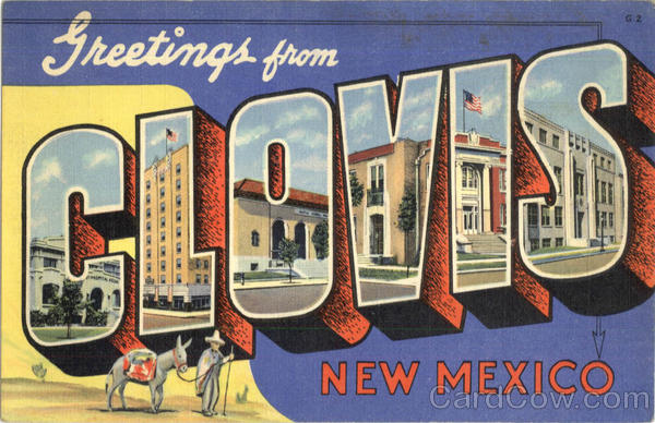 Greetings From Clovis New Mexico Large Letter