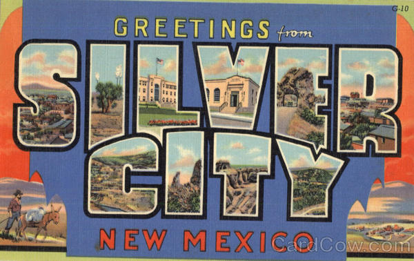 Greetings From Silver City New Mexico Large Letter