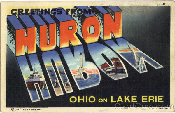 Greetings From Huron Ohio Large Letter