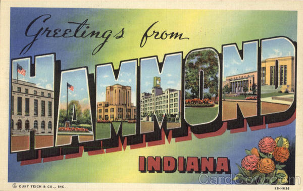 Greetings From Hammond Indiana Large Letter