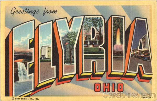 Greetings From Elyria Ohio Large Letter