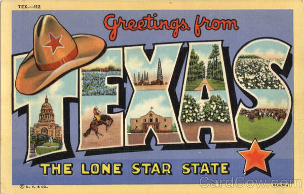 Greetings From Texas Large Letter