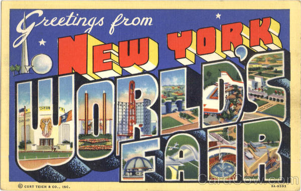 Greetings From New York World's Fair Large Letter