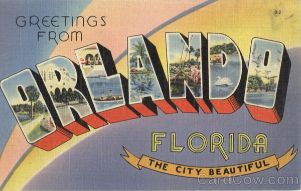 Greetings From Orlando Florida Large Letter