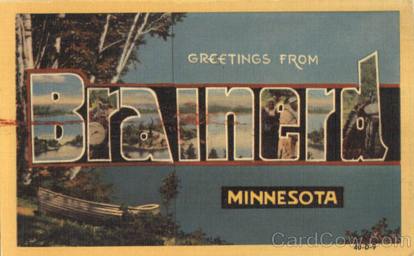 Greetings From Brainerd Minnesota Large Letter