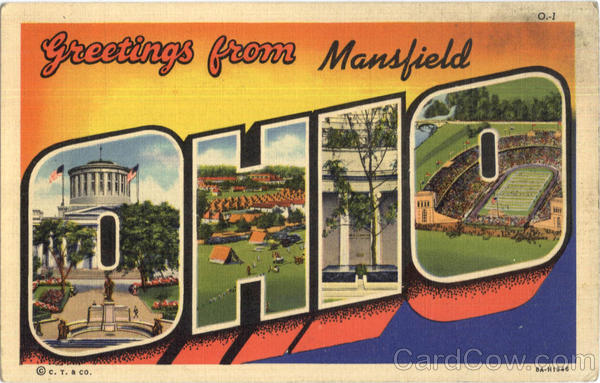 Greetings From Mansfield Ohio Large Letter