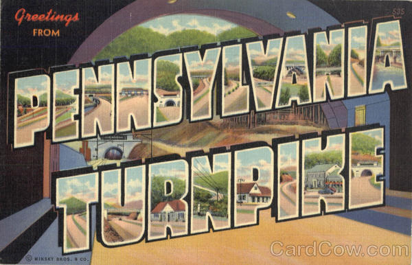 Greetings From Pennsylvania Turnpike Postcard