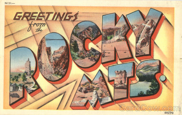Greetings From Rocky Mts Colorado Large Letter