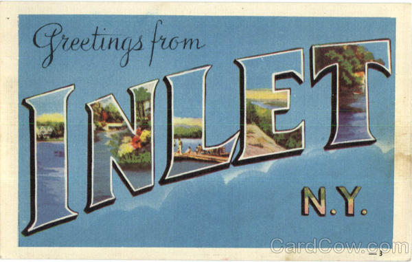 Greetings From Inlet New York Large Letter