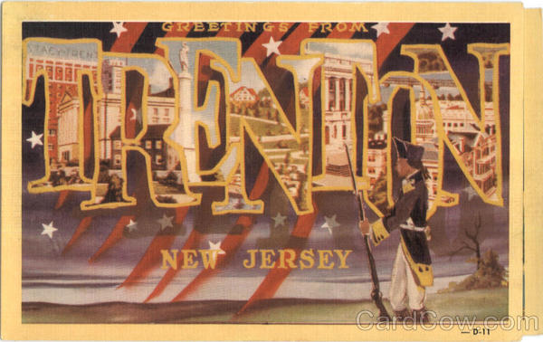 Greetings From Trenton New Jersey Large Letter