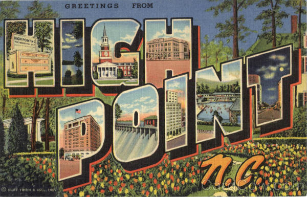 Greetings From High Point North Carolina Large Letter