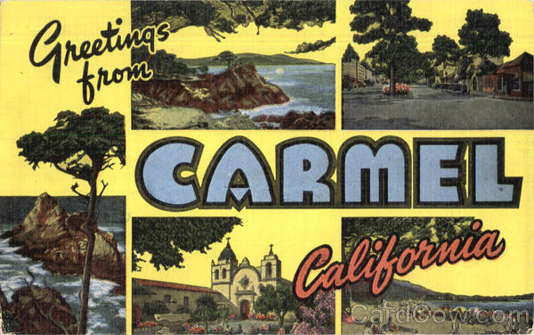 Greetings From Carmel California Large Letter