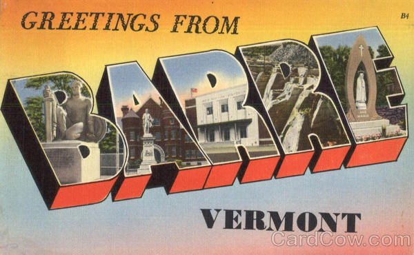 Greetings From Barre Vermont Large Letter