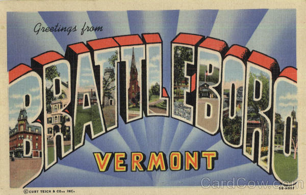 Greetings From Brattleboro Vermont Large Letter