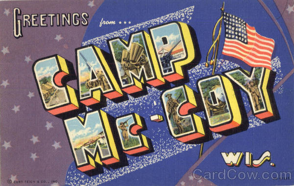 Greetings From Camp Mc-Coy Camp McCoy Wisconsin Large Letter