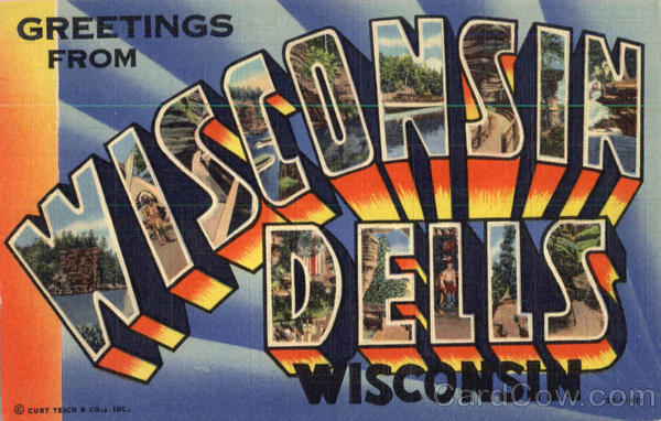 Greetings From Wisconsin Dells Large Letter