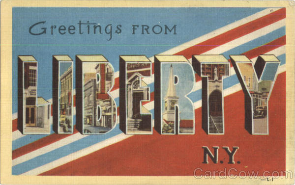 Greetings From Liberty New York Large Letter