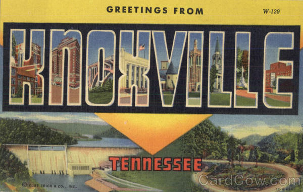 Greetings From Knoxville Tennessee Large Letter